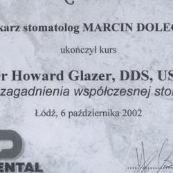 Marcin Dolecki certyfikaty 57