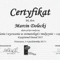 Marcin Dolecki certyfikaty 05