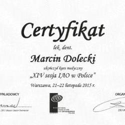 Marcin Dolecki certyfikaty 06