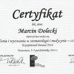 Marcin Dolecki certyfikaty 07