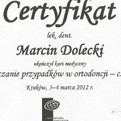 Marcin Dolecki certyfikaty 09