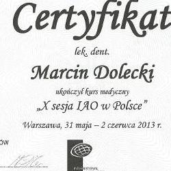 Marcin Dolecki certyfikaty 10