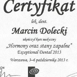 Marcin Dolecki certyfikaty 12