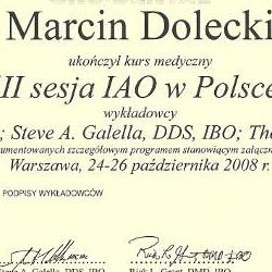 Marcin Dolecki certyfikaty 13