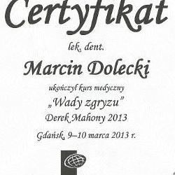 Marcin Dolecki certyfikaty 14