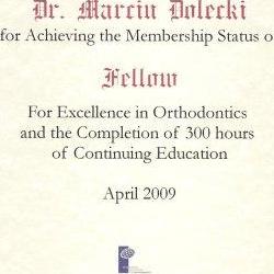 Marcin Dolecki certyfikaty 18