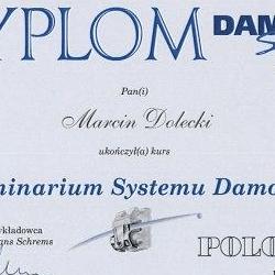 Marcin Dolecki certyfikaty 24