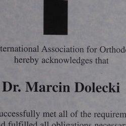 Marcin Dolecki certyfikaty 31