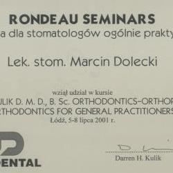 Marcin Dolecki certyfikaty 35