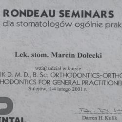 Marcin Dolecki certyfikaty 36