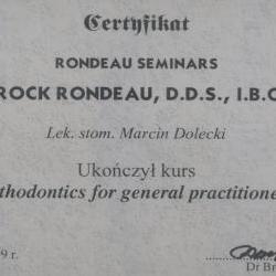 Marcin Dolecki certyfikaty 37
