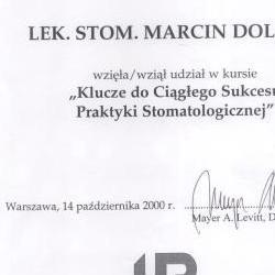 Marcin Dolecki certyfikaty 38