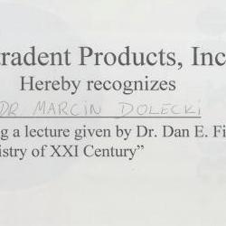 Marcin Dolecki certyfikaty 39