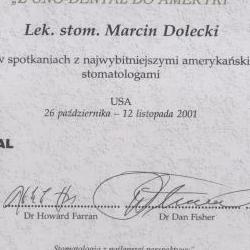 Marcin Dolecki certyfikaty 0