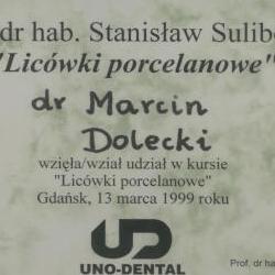 Marcin Dolecki certyfikaty 43