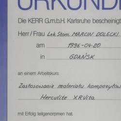 Marcin Dolecki certyfikaty 45