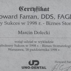 Marcin Dolecki certyfikaty 47