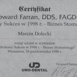 Marcin Dolecki certyfikaty 48