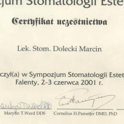 Marcin Dolecki certyfikaty 49