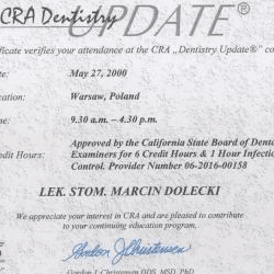 Marcin Dolecki certyfikaty 50