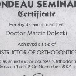 Marcin Dolecki certyfikaty 52