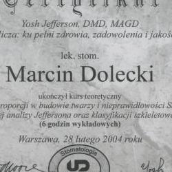 Marcin Dolecki certyfikaty 54