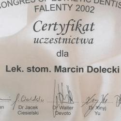 Marcin Dolecki certyfikaty 56