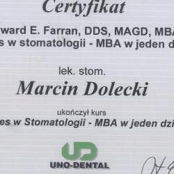 Marcin Dolecki certyfikaty 58