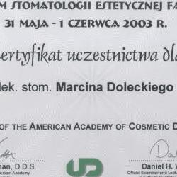 Marcin Dolecki certyfikaty 59