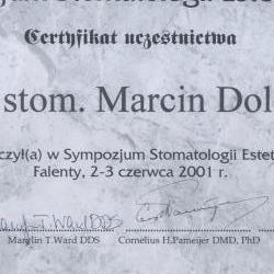 Marcin Dolecki certyfikaty 61