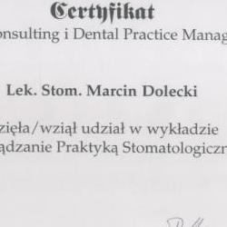 Marcin Dolecki certyfikaty 62